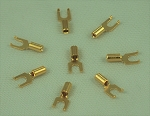 Gold Plated Instrument Lugs, #6 Stud (25 Qty.)